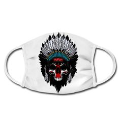 Geschenke Shop   Indianer skulll - Gesichtsmaske Baby Accessoires, Shops, Native Americans, Men And Women, Kids, Tents, Retail, Retail Stores