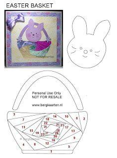 Irisvouwen: Easter Basket
