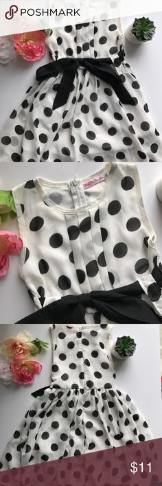 Poka Dot Dress In great condition. Two layers of fabric; underneath, a white 100% cotton fabric and a translucent layer on top. Light weight; no stains or holes.  Item from a smoke free/pet free home.  H O S T P I C K ! 5x host pick!  D I S C L A I M E R * I take reasonable offers - no low balling * I do not trade * When you bundle you save more! Dresses Casual
