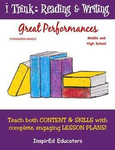 This complete InspirEd Educators 97 page unit includes 17 single-class lessons to teach drama, speech, theater and other performance arts.  Topics ...
