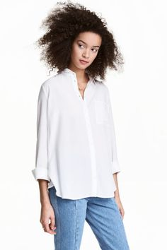 Viscose shirt - White - Ladies | H&M 1