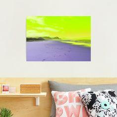 """Beautiful day on a sandy beach with yellow sky"" Photographic Print by Artlajf   Redbubble Yellow Sky, Nature Photos, Beautiful Day, Photo Art, Canvas Prints, Wall Art, Beach, Creative, Artist"