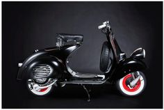 Vespa Custom   Like all of our restorations this Vespa was previously rusted-dip and repainted. The conversion applies in the style of...