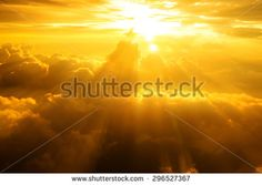 #Sky Sunset or sunrise on clouds,power light rays dramatic effect