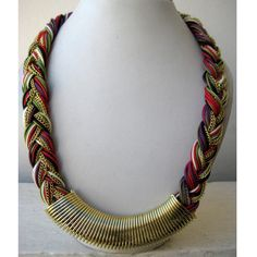 Braided Necklace/Multi Colored Necklace/Statement Necklace /Chunky Necklace /Bib Necklace/Beaded Jewelry/Bohemian Necklace. $27.50, via Etsy.