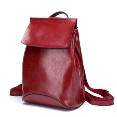 71.76$  Buy here - http://alioiw.worldwells.pw/go.php?t=32757737601 - Vintage Women Backpack High Quality Genuine Leather Backpacks for Teenage Girls feminina School Shoulder Bag Bagpack mochila