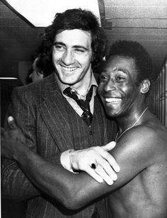 New York Cosmos teammates Giorgio Chinaglia & Pele 1977
