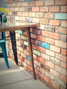 Urban Textures - Reused brick wall Eclectic Outdoor Decor, Brick Projects, Brick Patios, Brick Wall, Curb Appeal, Entryway Tables, Urban, House, Furniture