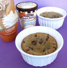 Individual Chocolate Chip Cookie Sundaes For Two (Mini Pizookies) - Lindsay Ann Bakes