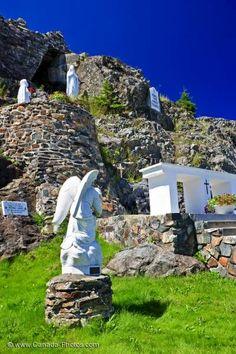 Religious Shrine Our Lady Of Lourdes Grotto Flat Rock Newfoundland - Photo & Travel Idea Canada Newfoundland Canada, Newfoundland And Labrador, New Travel, Canada Travel, Constitution Of Canada, Lourdes Grotto, Our Lady Of Lourdes, Atlantic Canada, Of Montreal