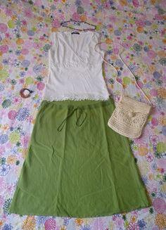 A vendre sur #vintedfrance ! http://www.vinted.fr/mode-femmes/autres-jupes/15409352-jupe-verte-estivale-lin