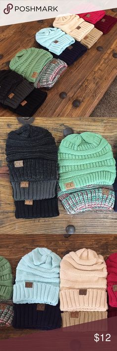 4 Left‼️Trendy Winter Beanies!❄️2 for $22 Warm, knit trendy beanies! Price is firm. Want more??... 1 for $12 2 for $22 3 for $36 4 for $44 Colors are limited and going fast! Don't miss out on this perfect Christmas present! Accessories Hats