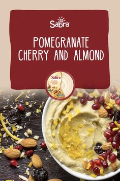 Make your own unique topping by combining tangy pomegranate and cherries with almonds. Sure to be a favorite! Party Platters, Serving Plates, Almonds, Cherries, Pomegranate, Hummus, Oatmeal, Breakfast, Unique