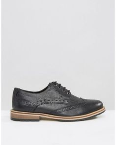 c45e93accc8 Men s Milled Brogues In Black Leather