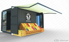 shipping container vegetable store
