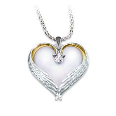 Angel's Wings Mother Of Pearl Remembrance Pendant