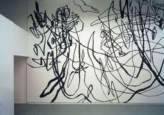 Hand Painted Walls, Illustration Art, Illustrations, Art Installation, Wall Patterns, Mark Making, Scribble, Artist At Work, Art Inspo