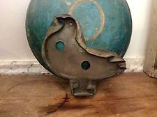Very Large 19Th C. Antique Early Tin Pa. Folky Bird Cookie Cutter