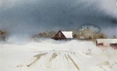 Stanislaw Zoladz paints atmospheric watercolor landscape paintings that reveal the transformative qualities of light on rocks, snow and water. Landscape Painting Artists, Watercolor Landscape Paintings, Landscape Drawings, Cool Landscapes, Artist Painting, Watercolor Portraits, Abstract Paintings, Watercolor Barns, Easy Watercolor