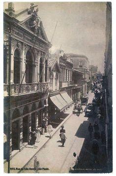 Rua São Bento, SP - início de 1920