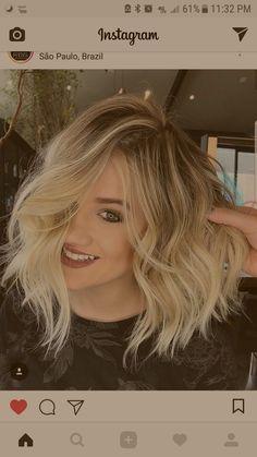 Cut and Color! So pretty Fine Hair, Wavy Hair, Her Hair, Blonde Hair, Haar Make-up, Camping Hair, Balayage Hair, Haircolor, Fantasy Hair