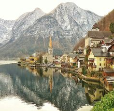 The ever so gorgeous Hallstatt, Austria. Straight out of scene from Grimm Tales.  Photo by mygreatescapes (Instagram)