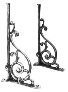 """""""Luciano"""" Ornate Scroll Bracket (210mm) - Wall Brackets in Chrome, Brass and Iron - Shelf Brackets - Other Hardware - Home & Interiors - Catalogue 