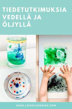 Näillä simppeleillä, mielenkiintoisilla tutkimuksilla opetat lapselle aineiden tiheydestä. Sytyttäkää pieni ilotulitus lasipurkkiin ja tutkikaa öljyn ja veden yhdistymistä. Muovipussipuuha sopii jopa vauvoille! Kurkkaa ohjeet Leikki leikkinä -blogista.   #tiede #tiheys #kemia #tiedetutkimus #luonnontiede #luonnontiedelauantai
