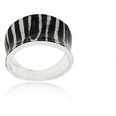 zebra print ringSterling silver jewelry