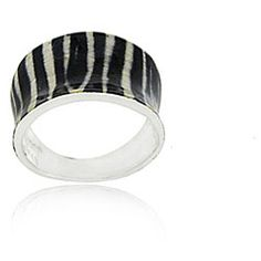 zebra print ringSterling silver jewelry