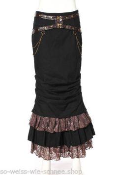 RQ-BL-Steampunk-Rock-Kunst-Leder-Guertel-Pin-Up-Gothic-LARP-Vintage-Skirt-SP145-B