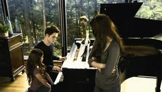 Edward and Renesmee playing the piano BD 2