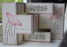Stampin Up Demonstrator Michelle Last: April 2011 Tri Fold Cards, Fancy Fold Cards, Folded Cards, Scrapbooking, Scrapbook Cards, Pop Up Cards, Cool Cards, Card Making Inspiration, Making Ideas