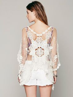Muche et Muchette Crochet Poncho at Free People Clothing Boutique