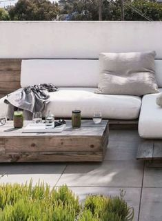 Low height outdoor seatin for the patio, featured on NONAGON.style
