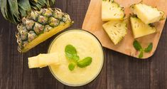 Smoothie frais à l'ananas (psyllium)
