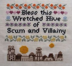 Bless This Wretched Hive of Scum and Villany, by Hardcore Stitchcorps  Okay, I need to do this.