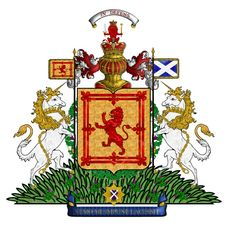 Full Arms of Scotland until 1603 when Scotland peacefully conquered England.