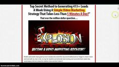 http://theaffiliatewaynetwork.com/tyexpld - YT Explosion Code Review - YT Explosion Code Bonus  YT Explosion Code will show you how to effectively generate 413+ leads daily using a simple video marketing strategy that takes about 5mins to implement.  Creators Angie Long and Jermaine Steele have now simplified video marketing by putting together a nice product call YT Explosion Code.