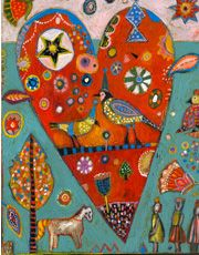 Jill Mayberg heart painting