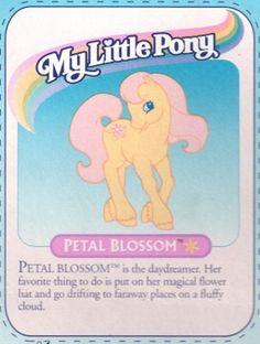 Petal Blossom - My Little Wiki 1980s Childhood, Childhood Memories, Vintage My Little Pony, Unicorn Pictures, My Little Pony Pictures, Flower Hats, Vintage Ads, Daydream, Phoenix Quotes