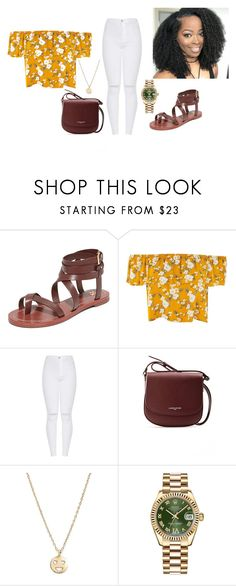 """Untitled #28"" by fashionnmia on Polyvore featuring Tory Burch, Lancaster, Bing Bang and Rolex"