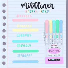 Flat Color Palette, Color Palette Challenge, Pastel Colour Palette, Paleta De Color Hexadecimal, Rgb Color Codes, Aesthetic Fonts, Pantone Colour Palettes, School Organization Notes, Stabilo Boss