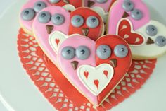 Owls in Love Cookies