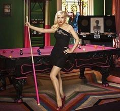 Lady Gaga with her custom designer billiard table. #ladygaga #gaga