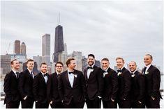 Olive Park Wedding Pictures | River Roast Chicago Wedding | Riverwalk Bride and Groom Pictures | Jill Tiongco Photography | Chicago Wedding Photographer | Olive Park Groomsmen