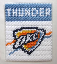 Oklahoma City Thunder tissue box cover in by AuntCCcreations, $2.00