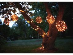 Grapevine Ball Lanterns Forget harsh floodlights and accentuate your backyard or garden with the soft glow of these unconventional orbs.