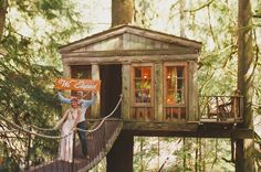 Bohemian Treehouse Elopement: LOVE THIS!!!