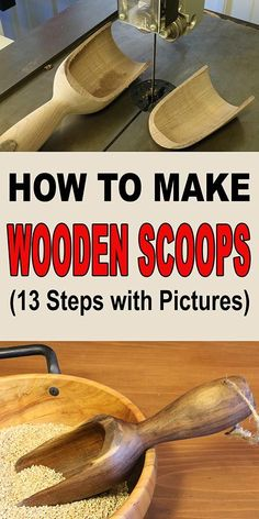 to Make Wooden Scoops (Woodturning Project) How to make a wooden scoop on the lathe by woodturning.How to make a wooden scoop on the lathe by woodturning. Woodworking Quotes, Woodworking For Kids, Woodworking Lathe, Easy Woodworking Projects, Popular Woodworking, Woodworking Furniture, Woodworking Workshop, Woodworking Patterns, Woodworking Techniques
